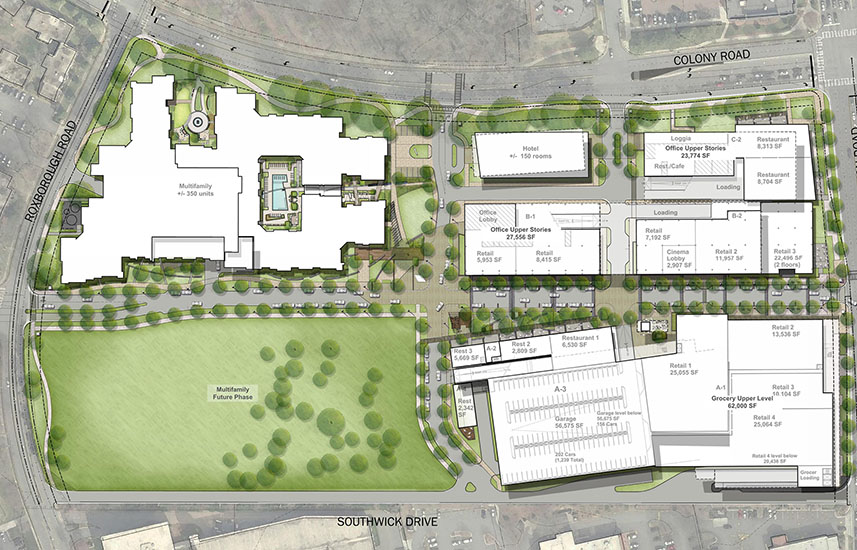 Overall Schematic Plan | The Colony Redevelopment | Charlotte, NC